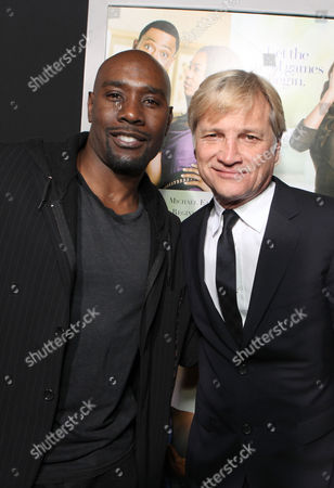 Stock Image of HOLLYWOOD, CA - FEBRUARY 09: D. B. Woodside and Screen Gems' Clint Culpepper at Screen Gems' Premiere of 'Think Like A Man' held at ArcLight Cinemas Cinerama Dome on February 9, 2012 in Hollywood, California. D. B. Woodside Clint Culpepper