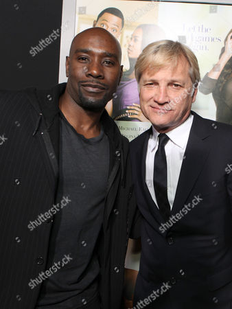 Stock Photo of HOLLYWOOD, CA - FEBRUARY 09: D. B. Woodside and Screen Gems' Clint Culpepper at Screen Gems' Premiere of 'Think Like A Man' held at ArcLight Cinemas Cinerama Dome on February 9, 2012 in Hollywood, California. D. B. Woodside Clint Culpepper