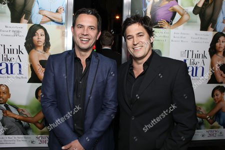 HOLLYWOOD, CA - FEBRUARY 09: Writers Keith Merryman and David A. Newman at Screen Gems' Premiere of 'Think Like A Man' held at ArcLight Cinemas Cinerama Dome on February 9, 2012 in Hollywood, California. Keith Merryman David A. Newman