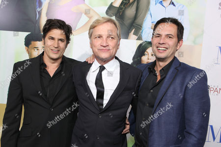 HOLLYWOOD, CA - FEBRUARY 09: Writers Keith Merryman, Screen Gems' Clint Culpepper and David A. Newman at Screen Gems' Premiere of 'Think Like A Man' held at ArcLight Cinemas Cinerama Dome on February 9, 2012 in Hollywood, California. Keith Merryman Clint Culpepper David A. Newman