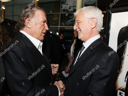HOLLYWOOD, CA - FEBRUARY 21: Producer Sidney Kimmel and Summit Entertainment's Rob Friedman arrive at Summit Entertainment's Los Angeles Premiere of 'Gone' at ArcLight Hollywood on February 21, 2012 in Hollywood, California. Sidney Kimmel Rob Friedman