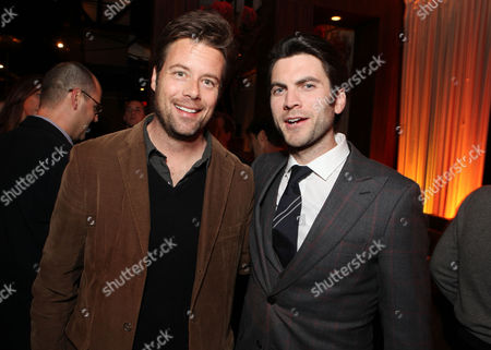 Stock Photo of HOLLYWOOD, CA - FEBRUARY 21: Brad Rowe and Wes Bentley at Summit Entertainment's Los Angeles Premiere of 'Gone' at ArcLight Hollywood on February 21, 2012 in Hollywood, California. Brad Rowe Wes Bentley