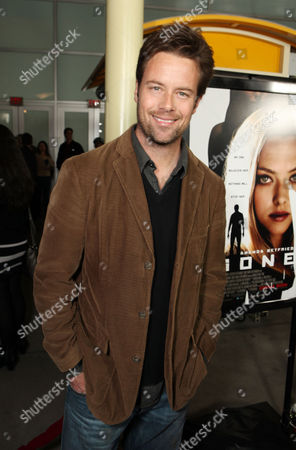 Stock Image of HOLLYWOOD, CA - FEBRUARY 21: Brad Rowe arrives at Summit Entertainment's Los Angeles Premiere of 'Gone' at ArcLight Hollywood on February 21, 2012 in Hollywood, California. Brad Rowe