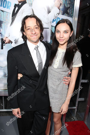 HOLLYWOOD, CA - MARCH 13: Writer Michael Bacall (L) and guest at Columbia Pictures' Premiere of '21 Jump Street' held at Grauman's Chinese Theatre on March 13, 2012 in Hollywood, California. Michael Bacall