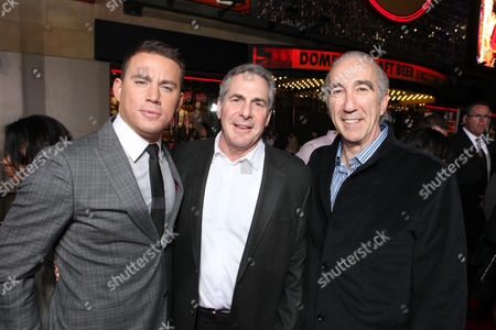 HOLLYWOOD, CA - MARCH 13: : (L-R) Actor Channing Tatum, MGM CEO & co-chairman Roger Birnbaum, and MGM CEO & co-chairman Gary Barber at Columbia Pictures' Premiere of '21 Jump Street' held at Grauman's Chinese Theatre on March 13, 2012 in Hollywood, California. Channing Tatum Roger Birnbaum Gary Barber