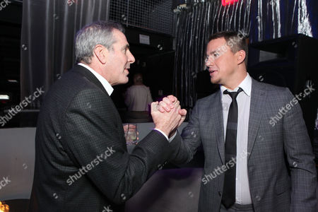 HOLLYWOOD, CA - MARCH 13: MGM CEO and co-chairman Roger Birnbaum and actor Channing Tatum at Columbia Pictures' Premiere of '21 Jump Street' held at Grauman's Chinese Theatre on March 13, 2012 in Hollywood, California. Roger Birnbaum Channing Tatum