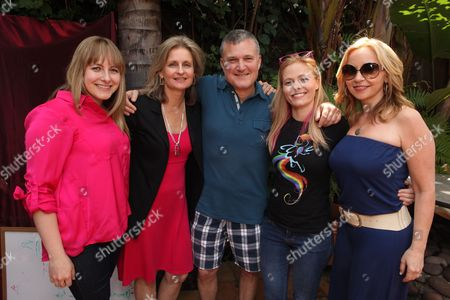 LOS ANGELES, CA - MAY 12: Cathy Weseluck, Andrea Libman, Hasbro's Stephen Davis, Writer Meghan McCarthy and Tara Strong at Hasbro's first stop in the national 'My Little Pony Friendship is Magic ' Pop-up store tour. 'My Little Pony' from Hasbro Studios New Episodes can be seen Saturdays at 1pm ET l 10am PT on the Hub. Cathy Weseluck Andrea Libman Stephen Davis Meghan McCarthy Tara Strong