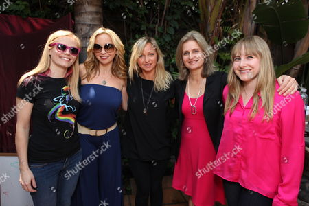 Stock Photo of LOS ANGELES, CA - MAY 12: Writer Meghan McCarthy, Tara Strong, Ashleigh Ball, Cathy Weseluck and Andrea Libman at Hasbro's first stop in the national 'My Little Pony Friendship is Magic ' Pop-up store tour. 'My Little Pony' from Hasbro Studios New Episodes can be seen Saturdays at 1pm ET l 10am PT on the Hub. Meghan McCarthy Tara Strong Ashleigh Ball Cathy Weseluck Andrea Libman