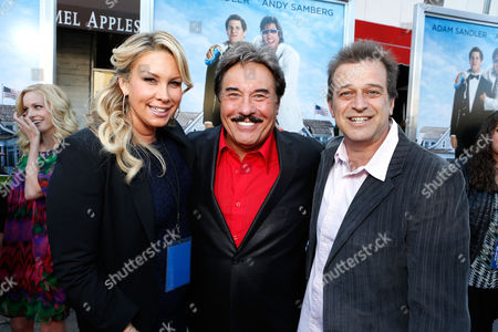 WESTWOOD, CA - JUNE 04: Producer Heather Parry, Tony Orlando and Producer Allen Covert at Columbia Pictures Premiere of 'That's My Boy' at Regency Village Theatre on June 4, 2012 in Westwood, California. Heather Parry Tony Orlando Allen Covert