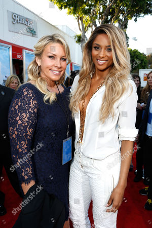 WESTWOOD, CA - JUNE 04: Producer Heather Parry and Ciara at Columbia Pictures Premiere of 'That's My Boy' at Regency Village Theatre on June 4, 2012 in Westwood, California. Heather Parry Ciara