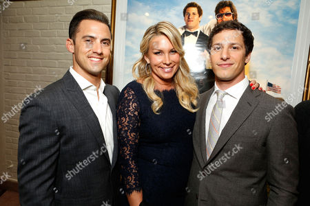 WESTWOOD, CA - JUNE 04: Milo Ventimiglia, Heather Parry and Andy Samberg at Columbia Pictures Premiere of 'That's My Boy' at Regency Village Theatre on June 4, 2012 in Westwood, California. Milo Ventimiglia Heather Parry Andy Samberg