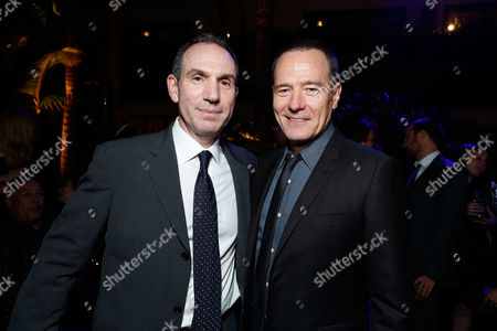 HOLLYWOOD, CA - AUGUST 01: Producer Toby Jaffe and Bryan Cranston at Premiere of Columbia Pictures 'Total Recall' at Grauman's Chinese Theatre on August 1, 2012 in Hollywood, California. Toby Jaffe Bryan Cranston