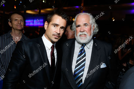 HOLLYWOOD, CA - AUGUST 01: Colin Farrell and Sony's Jeff Blake at Premiere of Columbia Pictures 'Total Recall' at Grauman's Chinese Theatre on August 1, 2012 in Hollywood, California. Colin Farrell Jeff Blake