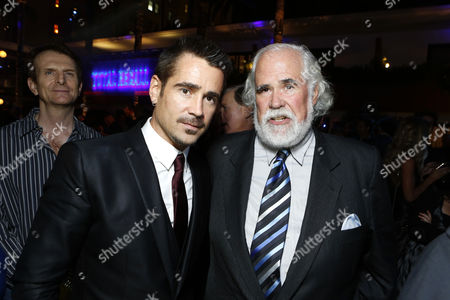 HOLLYWOOD, CA - AUGUST 01: Colin Farrell and Sony's Jeff Blake at Premiere of Columbia Pictures 'Total Recall' at Grauman's Chinese Theatre on August 1, 2012 in Hollywood, California.