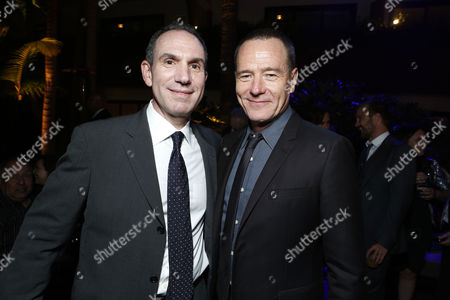 HOLLYWOOD, CA - AUGUST 01: Producer Toby Jaffe and Bryan Cranston at Premiere of Columbia Pictures 'Total Recall' at Grauman's Chinese Theatre on August 1, 2012 in Hollywood, California.