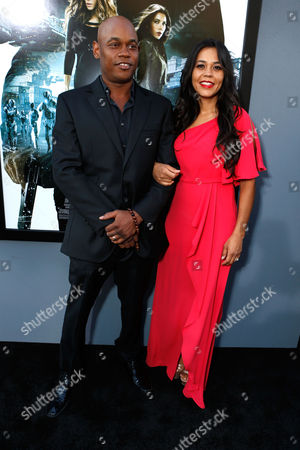 Stock Photo of HOLLYWOOD, CA - AUGUST 01: Bokeem Woodbine and Mahiely Woodbine at Premiere of Columbia Pictures 'Total Recall' at Grauman's Chinese Theatre on August 1, 2012 in Hollywood, California. Bokeem Woodbine Mahiely Woodbine