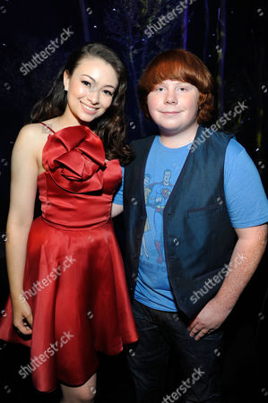 UNIVERSAL CITY, CA - AUGUST 05: Jodelle Ferland and Tucker Albrizzi at Focus Features 'ParaNorman' World Premiere at The Globe Theatre at Universal Studios on August 5, 2012 in Universal City, California. Jodelle Ferland Tucker Albrizzi