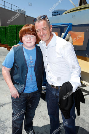 UNIVERSAL CITY, CA - AUGUST 05: Tucker Albrizzi and Director Sam Fell at Focus Features 'Paranorman' World Premiere at The Globe Theatre at Universal Studios on August 5, 2012 in Universal City, California. Tucker Albrizzi Sam Fell