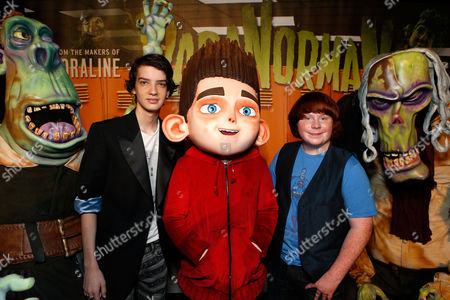 UNIVERSAL CITY, CA - AUGUST 05: Kodi Smit-McPhee and Tucker Albrizzi at Focus Features 'ParaNorman' World Premiere at The Globe Theatre at Universal Studios on August 5, 2012 in Universal City, California. Kodi Smit-McPhee Tucker Albrizzi