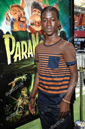 UNIVERSAL CITY, CA - AUGUST 05: Kwesi Boakye at Focus Features 'ParaNorman' World Premiere at The Globe Theatre at Universal Studios on August 5, 2012 in Universal City, California. Kwesi Boakye