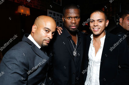 LOS ANGELES, CA - AUGUST 07: Director Jessy Terrero, Curtis '50 Cent' Jackson and Malcolm Goodwin attend the VIP screening for 'Freelancers' premiering in select theaters August 10 and available on Blu-ray and DVD August 21ÊfromÊLionsgate Home Entertainment at Mann Chinese 6 on August 7, 2012 in Los Angeles, California. Curtis '50 Cent' Jackson Jessy Terrero Malcolm Goodwin
