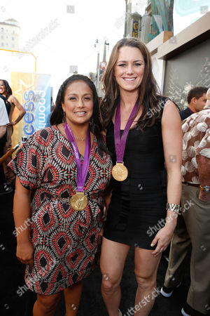 HOLLYWOOD, CA - AUGUST 15: Brenda Villa and Jessica Steffens at Lionsgate World Premiere Of 'The Expendables 2' held at Grauman's Chinese Theatre on August 15, 2012 in Hollywood, California. Jessica Steffens Brenda Villa