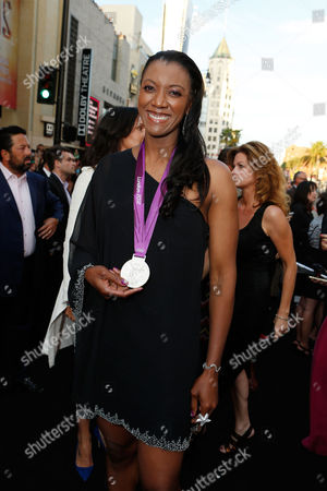 Stock Image of HOLLYWOOD, CA - AUGUST 15: Danielle Scott Aruda at Lionsgate World Premiere Of 'The Expendables 2' held at Grauman's Chinese Theatre on August 15, 2012 in Hollywood, California. Danielle Scott Aruda