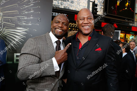 HOLLYWOOD, CA - AUGUST 15: Terry Crews and Tommy Lister at Lionsgate World Premiere Of 'The Expendables 2' held at Grauman's Chinese Theatre on August 15, 2012 in Hollywood, California. Terry Crews Tommy Lister