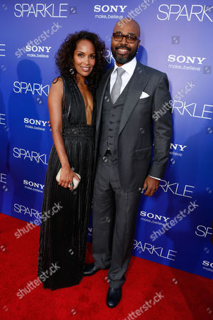 HOLLYWOOD, CA - AUGUST 16: Mara Brock Akil and Director Salim Akil at TriStar Pictures 'Sparkles' Premiere held at Grauman's Chinese Theatre on August 16, 2012 in Hollywood, California. Mara Brock Akil Salim Akil
