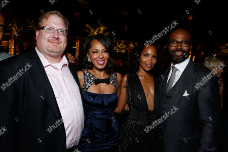 HOLLYWOOD, CA - AUGUST 16: Producer Curtis Wallace, Producer Debra Martin Chase, Mara Brock Akil, and Director Salim Akil at TriStar Pictures 'Sparkles' Premiere held at Grauman's Chinese Theatre on August 16, 2012 in Hollywood, California. Curtis Wallace Debra Martin Chase Mara Brock Akil Salim Akil