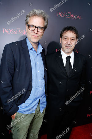 HOLLYWOOD, CA - AUGUST 28: Directors Ole Bornedal and Sam Raimi arrive at Lionsgate's 'The Possession' Los Angeles Premiere at ArcLight Cinemas on August 28, 2012 in Hollywood, California. . Ole Bornedal Sam Raimi