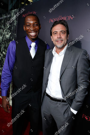 HOLLYWOOD, CA - AUGUST 28: Nana Gbewonyo and Jeffrey Dean Morgan arrive at Lionsgate's 'The Possession' Los Angeles Premiere at ArcLight Cinemas on August 28, 2012 in Hollywood, California. . Nana Gbewonyo Jeffrey Dean Morgan