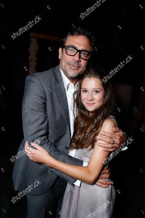 HOLLYWOOD, CA - AUGUST 28: Jeffrey Dean Morgan and Natasha Calis arrive at Lionsgate's 'The Possession' Los Angeles Premiere at ArcLight Cinemas on August 28, 2012 in Hollywood, California. . Jeffrey Dean Morgan Natasha Calis