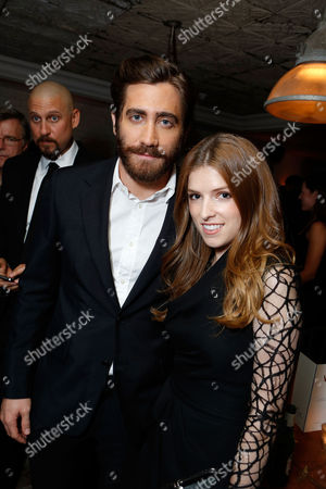TORONTO, ON - SEPTEMBER 08: Jake Gyllenhall and Anna Kendrick attend the Grey Goose party for the 'End of Watch' at Soho House Toronto on September 8, 2012 in Toronto, Canada. Jake Gyllenhaal Anna Kendrick