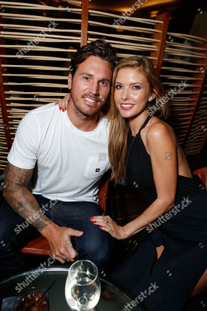 LOS ANGELES, CA - SEPTEMBER 17: Audrina Patridge and Corey Bohan at Open Road Films' 'End Of Watch' Premiere held at Regal Cinemas L.A. LIVE Stadium 14 on September 17, 2012 in Los Angeles, California. Audrina Patridge Corey Bohan