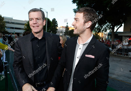 WESTWOOD, CA - SEPTEMBER 19: Director Robert Lorenz and Justin Timberlake at The World Premiere Of Warner Bros. Pictures' 'Trouble With The Curve' held at Mann Village Theatre on September 19, 2012 in Westwood, California. Justin Timberlake Robert Lorenz