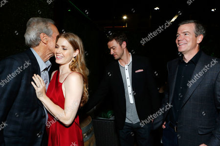 WESTWOOD, CA - SEPTEMBER 19: Writer/Actor Clint Eastwood, Amy Adams, Justin Timberlake and Director Robert Lorenz at The World Premiere Of Warner Bros. Pictures' 'Trouble With The Curve' held at Mann Village Theatre on September 19, 2012 in Westwood, California. Clint Eastwood Amy Adams Robert Lorenz Justin Timberlake