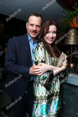 WEST HOLLYWOOD, CA - SEPTEMBER 22: Bill Paxton and wife Louise Newbury at HISTORY Pre-EMMY Party held Soho House on September 22, 2012 in West Hollywood, California. Louise Newbury Bill Paxton