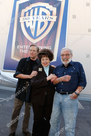 Stock Picture of BURBANK, CA - OCTOBER 03: Director William Friedkin, Jane Withers and Bill Gold at Warner Bros. Home Entertainment 2013 Year-Long 90th Anniversary Global Celebration held at Warner Bros. Studios on October 3, 2012 in Burbank, California. William Friedkin Jane Withers Bill Gold