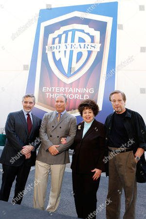 BURBANK, CA - OCTOBER 03: Warner Bros.' Chairman & CEO Barry Meyer, Warner Home Entertainment Executive Vice President and General Manager of Theatrical Catalog Jeff Baker, Jane Withers and Director William Friedkin at Warner Bros. Home Entertainment 2013 Year-Long 90th Anniversary Global Celebration held at Warner Bros. Studios on October 3, 2012 in Burbank, California. Barry Meyer Jeff Baker Jane Withers William Friedkin