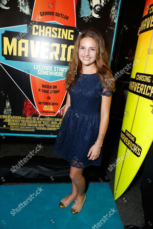 Stock Picture of LOS ANGELES, CA - OCTOBER 18: Maya Raines at Twentieth Century Fox And Walden Media Special Screening Of 'Chasing Mavericks' at Pacific Theatre at The Grove on October 18, 2012 in Los Angeles, California. Maya Raines
