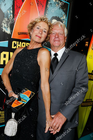 LOS ANGELES, CA - OCTOBER 18: Brenda Hesson and Frosty Hesson at Twentieth Century Fox And Walden Media Special Screening Of 'Chasing Mavericks' at Pacific Theatre at The Grove on October 18, 2012 in Los Angeles, California. Brenda Hesson Frosty Hesson