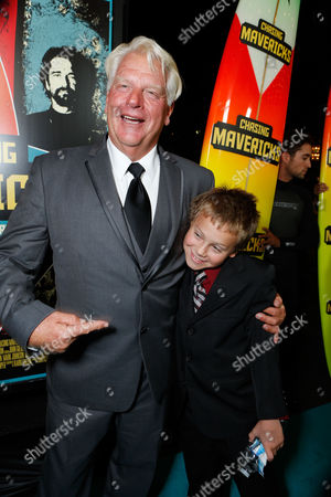 Stock Photo of LOS ANGELES, CA - OCTOBER 18: Frosty Hesson and Cooper Timberline at Twentieth Century Fox And Walden Media Special Screening Of 'Chasing Mavericks' at Pacific Theatre at The Grove on October 18, 2012 in Los Angeles, California. Cooper Timberline Frosty Hesson
