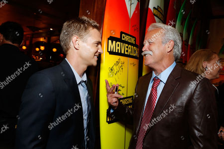 LOS ANGELES, CA - OCTOBER 18: Taylor Handley and Bob Pearson at Twentieth Century Fox And Walden Media Special Screening Of 'Chasing Mavericks' at Pacific Theatre at The Grove on October 18, 2012 in Los Angeles, California. Taylor Handley Bob Pearson
