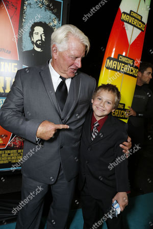 LOS ANGELES, CA - OCTOBER 18: Frosty Hesson and Cooper Timberline at Twentieth Century Fox And Walden Media Special Screening Of 'Chasing Mavericks' at Pacific Theatre at The Grove on October 18, 2012 in Los Angeles, California.