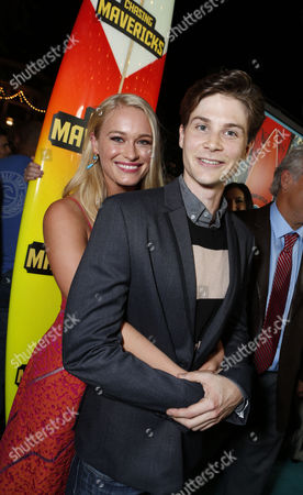 Stock Picture of LOS ANGELES, CA - OCTOBER 18: Leven Rambin and Devin Crittenden at Twentieth Century Fox And Walden Media Special Screening Of 'Chasing Mavericks' at Pacific Theatre at The Grove on October 18, 2012 in Los Angeles, California.