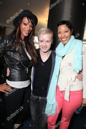 LOS ANGELES, CA - NOVEMBER 11: Judith Shekoni, Noel Fisher and Tracey Heggins at TWILIGHT SAGA: BREAKING DAWN PART II : Fan Breakfast with Cast Meet and Greet at Nokia Plaza L.A. LIVE on November 11, 2012 in Los Angeles, California. Judith Shekoni Noel Fisher Tracey Heggins