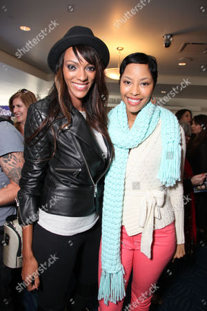LOS ANGELES, CA - NOVEMBER 11: Judith Shekoni and Tracey Heggins at TWILIGHT SAGA: BREAKING DAWN PART II : Fan Breakfast with Cast Meet and Greet at Nokia Plaza L.A. LIVE on November 11, 2012 in Los Angeles, California. Judith Shekoni Tracey Heggins