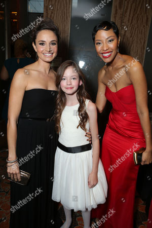LOS ANGELES, CA - NOVEMBER 12: (EXCLUSIVE COVERAGE) Mia Meastro, Mackenzie Foy and Tracey Heggins at The World Premiere of Summit Entertainment, a Lionsgate Company, 'The Twilight Saga: Breaking Dawn - Part 2' at Nokia Theatre L.A. Live on November 12, 2012 in Los Angeles, California. Mia Meastro Mackenzie Foy Tracey Heggins