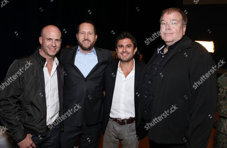 Stock Picture of PORT HUENEME, CA - NOVEMBER 13: Producer Tripp Vinson, Producer Beau Flynn, Producer Vincent Newman and Director Dan Bradley at 'Red Dawn' Military Base Special Screening on November 13, 2012 in Port Hueneme, California. Tripp Vinson Beau Flynn Vincent Newman Dan Bradley
